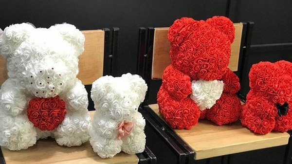 медведи из роз